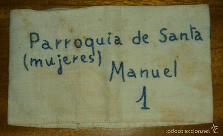 BRAZALETE DE LA SECCION FEMENINA DE MANUEL PARROQUIA DE SANTA ANA VALENCIA (Militar - Otros relacionados con uniformes )