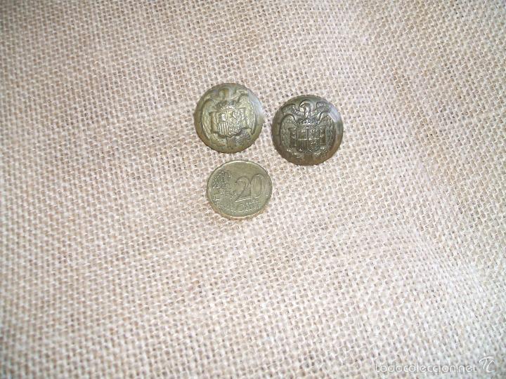 2 BOTONES ÉPOCA FRANCO (Militar - Botones )