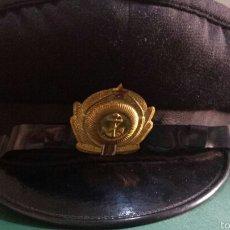 Militaria: ANTIGUA GORRA OFICIAL URSS MARINA AÑOS 70- 80 ORIGINAL. Lote 57916910