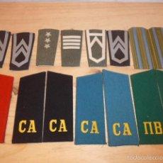 Militaria: LOTE DE HOMBRERAS ORIGINALES DE POLONIA, ALGUNAS EPOCA COMUNISTA CREO, MUY RAROS, ORIGINALES. Lote 58018700