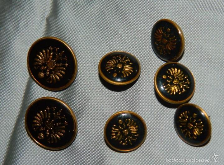 Militaria: Lote botones esmaltados negros y otros - Foto 2 - 58220875