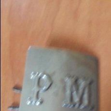 Militaria: HEBILLA POLICIA MUNICIPAL. Lote 58299964