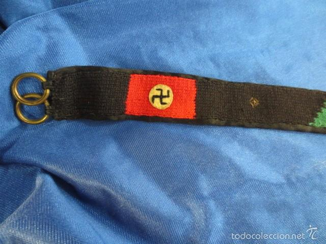 Militaria: RARO CINTURÓN CON SÍMBOLOS NAZI Y ESTRELLA JUDÍA - Foto 3 - 58327859