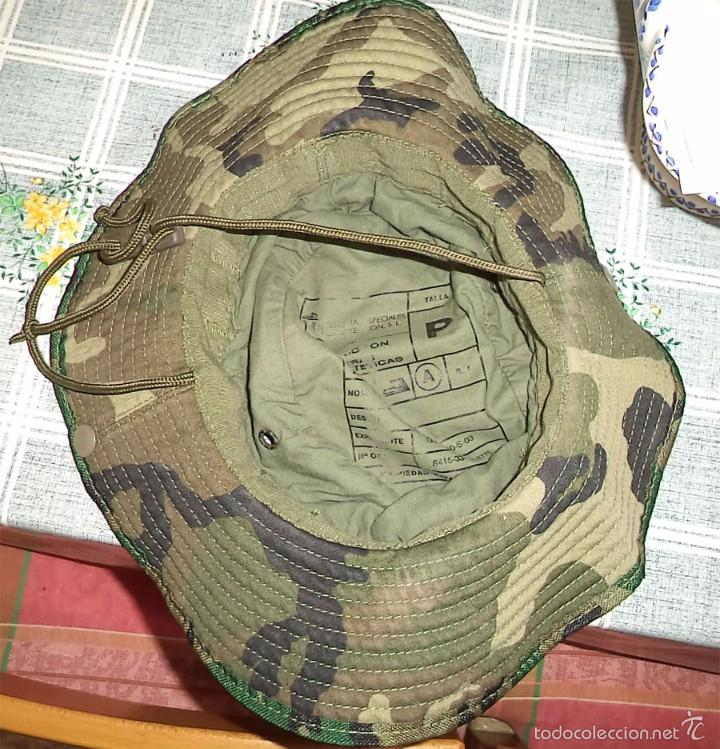 Militaria: SOMBRERO DE CAMUFLAJE DEL EJERCITO ESPAÑOL TALLA P Como nuevo - Foto 2 - 58538291