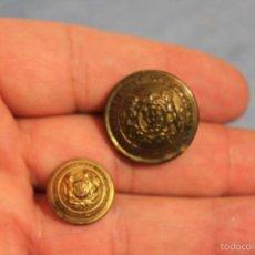 Militaria: BOTONES GRANDE Y PEQUEÑO DES WAGONS LITS - BOTON WAGONSLITS - 1876 - 1882. Lote 59072685