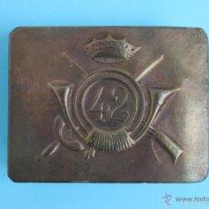 Militaria: HEBILLA INFANTERIA NUMERO 42. Lote 59204475