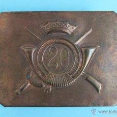 Militaria: HEBILLA INFANTERIA NUMERO 20. Lote 59204970
