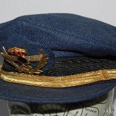 Militaria: GORRA DE PLATO DE AVIACIÓN. JEFE. ÉPOCA JUAN CARLOS I. EMBLEMA DE LA GORRA ES METALICO, BUEN ESTADO . Lote 60257431