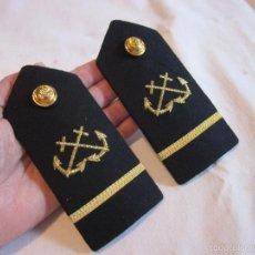 Militaria: ANTIGUAS HOMBRERAS DE MARINA, BORDADAS. EPOCA REPUBLICA O GUERRA CIVIL ?. Lote 60578007