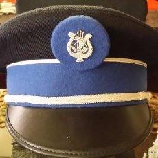 Militaria: ANTIGUA Y ORIGINAL GORRA DE LA POLICÍA DE PARIS DE MUSICO CON PLACA BORDADA HILO PLATA. Lote 60646495