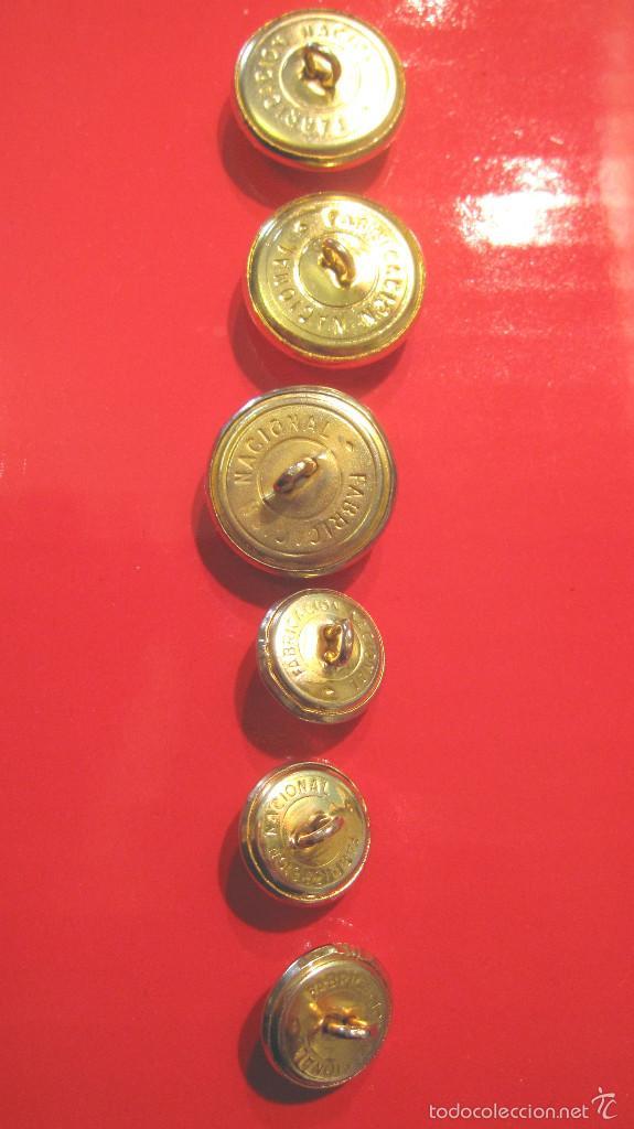Militaria: ANTIGUOS BOTONES ET. : 3 GUERRERA + 3 BOCAMANGA. MUY BUEN ESTADO - Foto 2 - 60932575