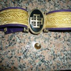Militaria: CINTURON O CEÑIDOR BANDA CORNETAS Y TAMBORES NAZARENO HUELVA. Lote 61030311