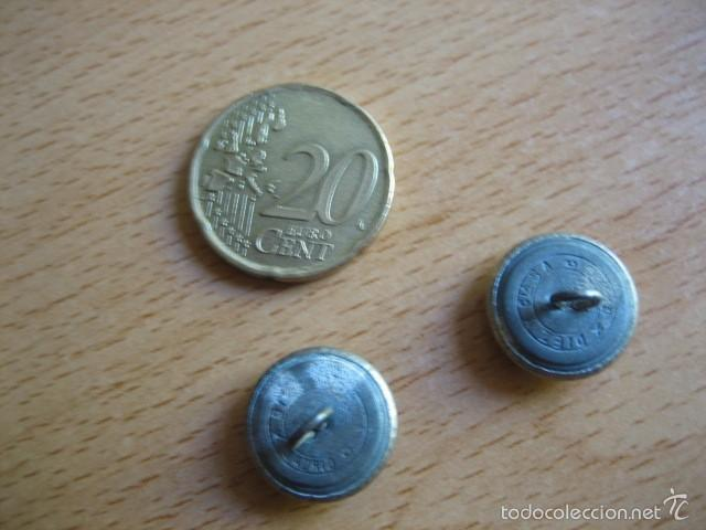 Militaria: Botones pequeños barboquejo. Policía Armada - Foto 2 - 61081295