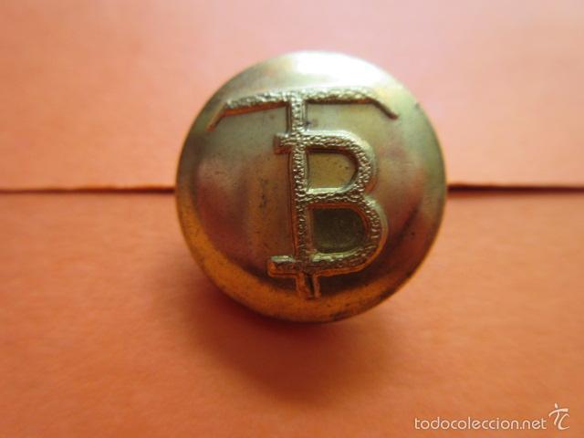 BOTON - TRANVIAS DE BARCELONA - - GRANDE (Militar - Botones )