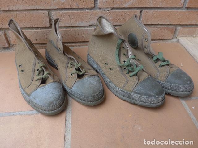 * LOTE 2 PAREJA DE BOTAS MILITARES ESPAÑOLAS ANTIGUAS, SATEJ SEGARRA, NUMERO 41, BOTINES. ZX (Militar - Botas y Calzado)