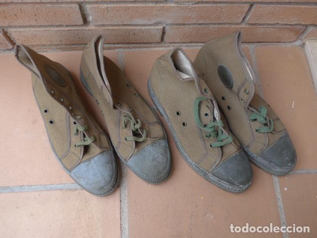 Militaria: * Lote 2 pareja de botas militares españolas antiguas, Satej segarra, numero 41, botines. - Foto 2 - 62291692