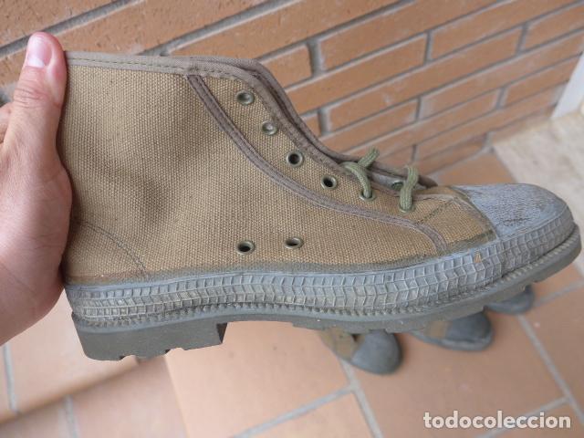 Militaria: * Lote 2 pareja de botas militares españolas antiguas, Satej segarra, numero 41, botines. - Foto 3 - 62291692