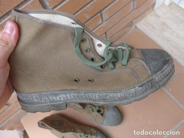 Militaria: * Lote 2 pareja de botas militares españolas antiguas, Satej segarra, numero 41, botines. - Foto 5 - 62291692