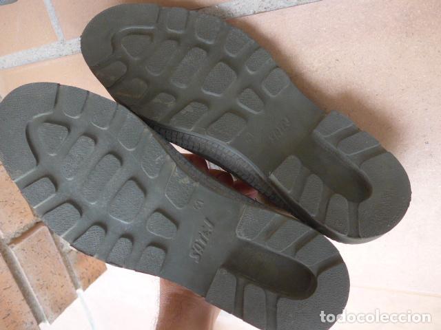 Militaria: * Lote 2 pareja de botas militares españolas antiguas, Satej segarra, numero 41, botines. - Foto 7 - 62291692