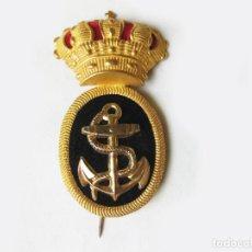 Militaria: EMBLEMA DISTINTIVO PARA GORRA DE MARINA DE GUERRA ESPAÑOLA - EPOCA DE ALFONSO XIII. Lote 62371484