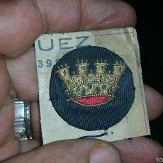 Militaria: CORONA MURAL BORDADA EN HILO DE ORO ORIGINAL DE ÉPOCA REPÚBLICA. Lote 62817811