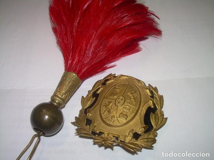 ANTIGUOS COMPLEMENTOS PARA GORRA ROS....EPOCA ALFONSO XIII. (Militar - Otros relacionados con uniformes )