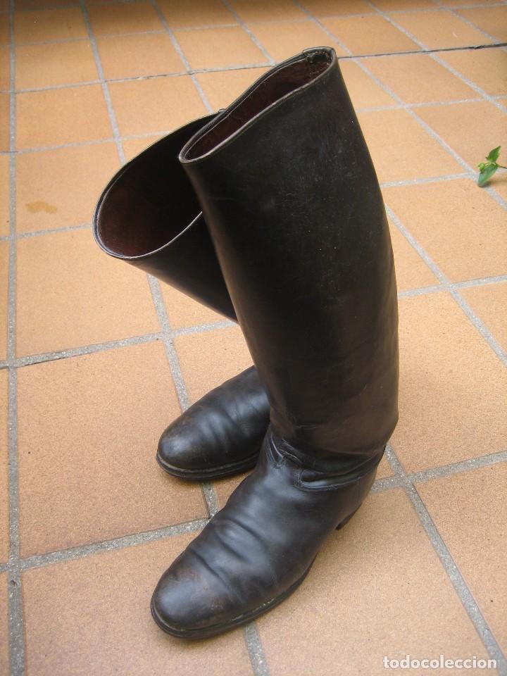 Militaria: Botas de caña alta oficial del ejército español. Reglamento 1943 - Foto 2 - 63313612