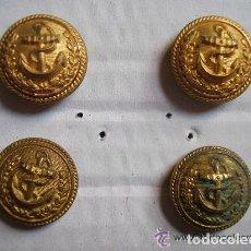 Militaria: LOTE DE 4 BOTONES ANTIGUOS DE LA ARMADA . DE T. W. & W. PARIS , PEQUEÑOS. Lote 277655268