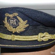 Militaria: GORRA DE PLATO DE PILOTO DE AVIACION, AEROLINEAS AEA, FABRICADA POR GORRAS MILITARES VICENTE RODRIGU. Lote 65062991