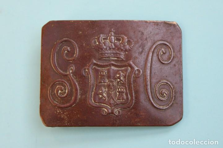 HEBILLA GUARDIA CIVIL 1854 -1911 (Militar - Cinturones y Hebillas )
