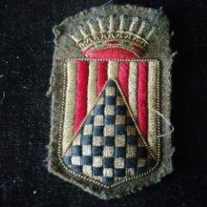 Militaria: ESCUDO DE BRAZO DE CUERPO DE EJÉRCITO ÉPOCA GUERRA CIVIL GRAN CALIDAD DE BORDADO. Lote 66506798