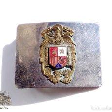 Militaria: HEBILLA CON ÁGUILA DE SAN JUAN ESMALTADA - GUARDIA REAL - ÉPOCA DE FRANCO. Lote 73699703