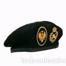Militaria: ESTUPENDA BOINA DE LA DIVISION ACORAZADA EN ENGRO, INCLUYE LOS DOS PARCHES TALLA 55. Lote 99385518