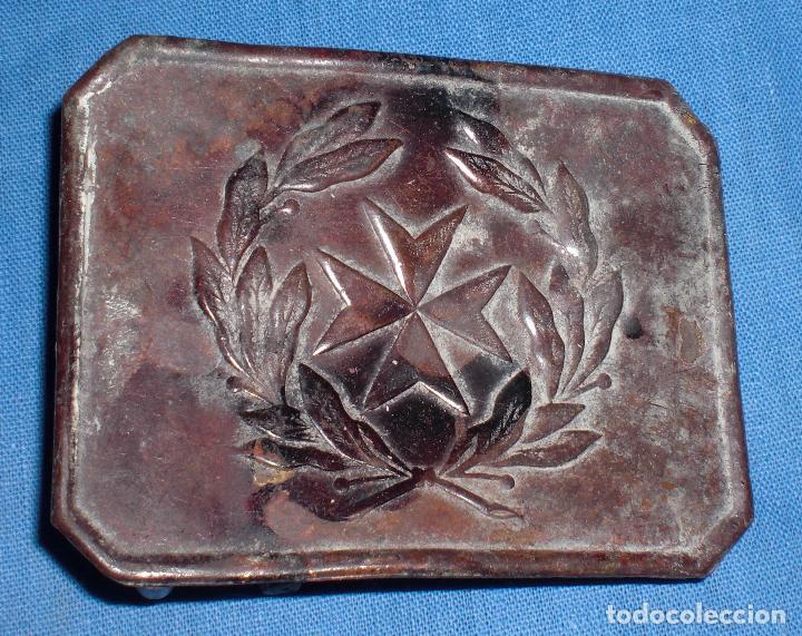 HEBILLA SANIDAD GUERRA CIVIL TRINCHERA (Militar - Cinturones y Hebillas )