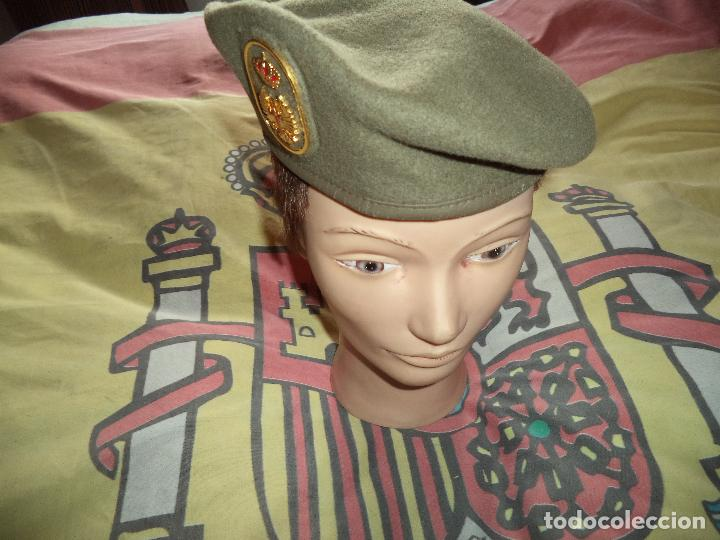 Militaria: BOINA ELOSEGUI EJERCITO DE TIERRA TALLA 55 AÑO 1991 - Foto 2 - 74294075