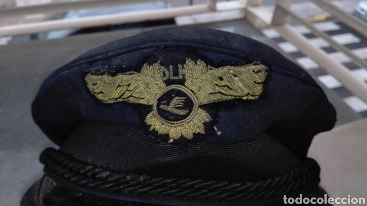 Militaria: Antigua Gorra de Aviación Civil año 1976 Lufthansa DLM - Foto 2 - 74912214