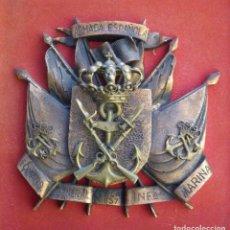 Militaria: RARA METOPA COMANDANCIA GENERAL DE LA INFANTERÍA DE MARINA EN VARIAS PIEZAS Y ENMARCADA.. Lote 75111567