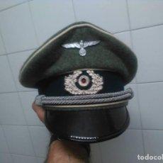 Militaria: GORRA ALEMANA DE OFICIAL DE LA WEHRMACHT EN GRAN CALIDAD LANA FELDGRAU TODAS LAS TALLAS . Lote 76031311