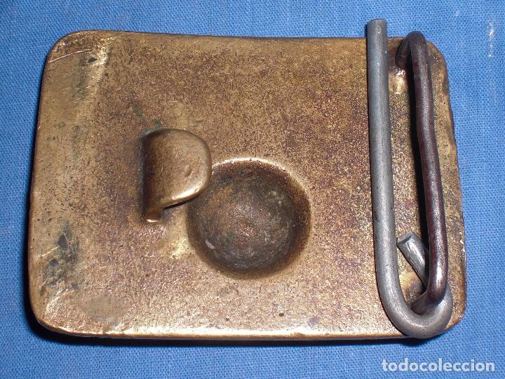 Militaria: Gran Hebilla artilleria bronce guerra civil - Foto 2 - 76758067