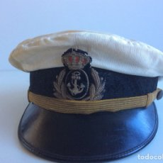 Militaria: GORRA DE PLATO BLANCO, OFICIAL DE LA ARMADA, ALFONSO XIII. MARINA, NAVAL.. Lote 66119974