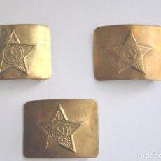 Militaria: LOTE 1 DE TRES HEBILLAS SOVIETICAS ,URSS .RUSIA HASTA 1991 A. Lote 77966491