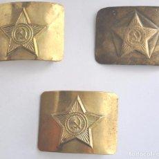 Militaria: LOTE 2 DE TRES HEBILLAS SOVIETICAS ,URSS .RUSIA HASTA 1991 A. Lote 77966519