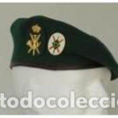 Militaria: ESTUPENDA BOINA DE JEFATURAS TROPA DE MONTAÑA COLOR VERDE, FORRO INTERIOR IMPERMEABLE TALLAS 54 A 60. Lote 136145101