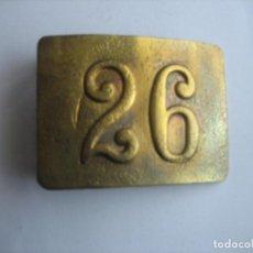 Militaria: HEBILLA DE INFANTERIA A XIII, Nº 26. Lote 81568476
