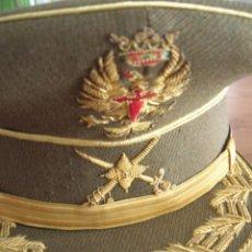 Militaria: EXCEPCIONAL GORRA DE GENERAL DE BRIGADA. EPOCA DE FRANCO. SASTRERIA GARRIDO DE MELILLA.. Lote 82336384