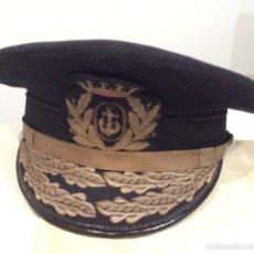 Militaria: GORRA AZUL DE GENERAL DE INFANTERÍA DE MARINA. PRIMERA ÉPOCA DE FRANCO. ARMADA ESPAÑOLA AÑOS 40/50. Lote 89406570