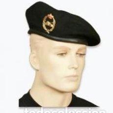 Militaria: ESTUPENDA BOINA NEGRA DE LA BRIGADA SAN MARCIAL CON EMBLEMA CARROS DE COMBATE TALLAS DE LA 54 A 60. Lote 83167280