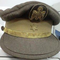 Militaria: GORRA DE PLATO DE ALFEREZ DEL CUERO DE LA POLICA NACIONAL. Lote 83395752