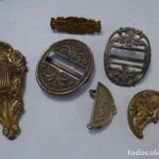 Militaria: * LOTE DE HEBILLAS DE BANDOLERA ESPAÑOLA ANTIGUA, HEBILLA. ZX. Lote 83406460
