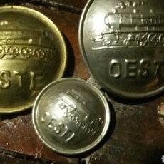 Militaria: BOTONES DIFERENTES DE FERROCARRILES O TRENES DEL OESTE. Lote 210359081